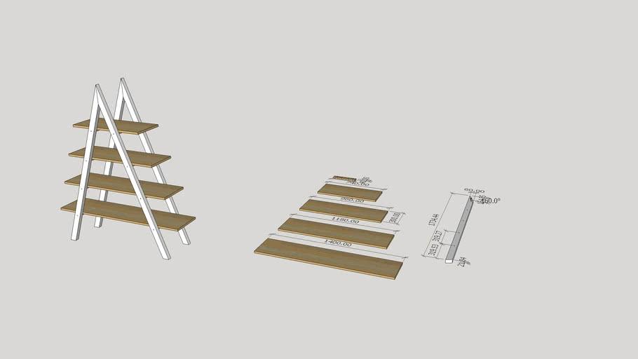 Prateleira escada