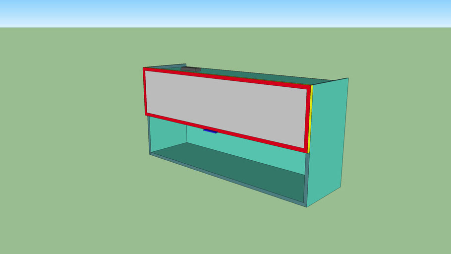 kitchen upper glass cabinet v4