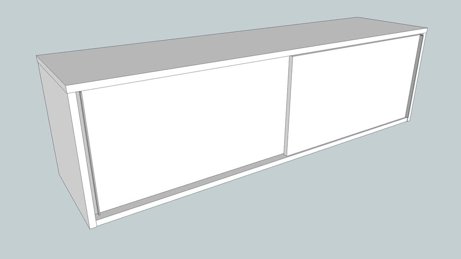 Wall Cabinet With Sliding Doors 140x40, Ikea Wall Cabinet