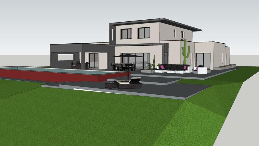 maison moderne toit plat modern house | 3D Warehouse