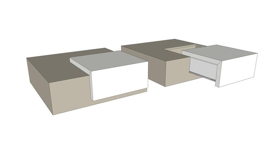 Table Basse Avec Tiroir 3d Warehouse