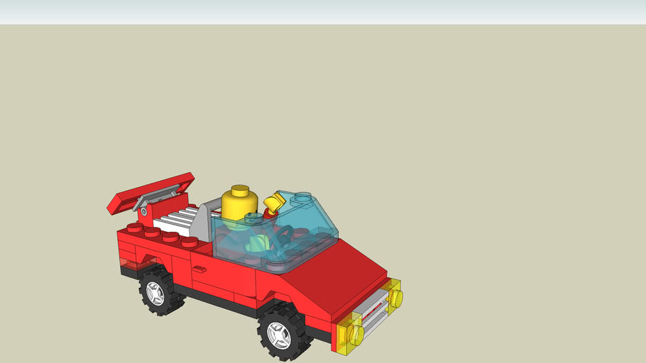 lego car with man in