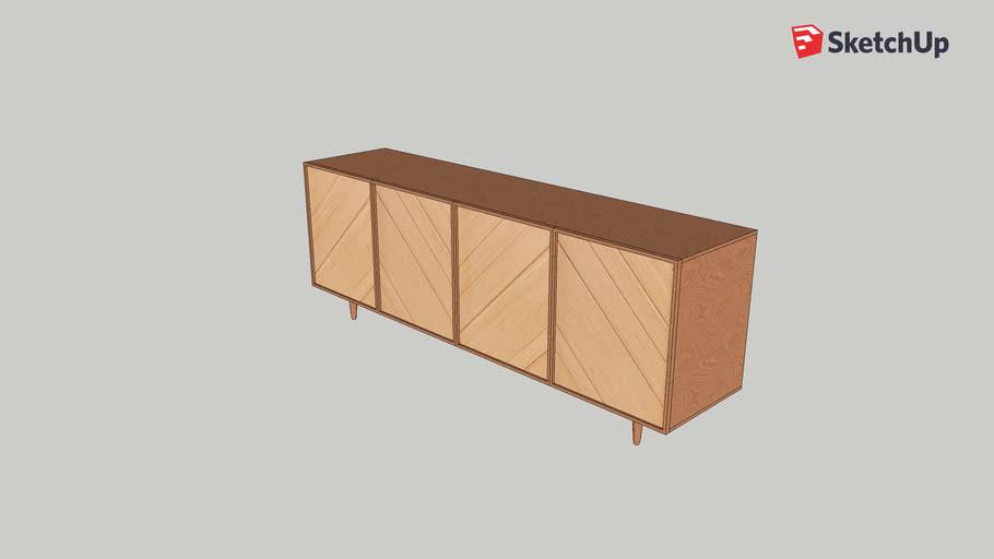 Madeleine - Buffet bas 4 portes en chêne - Design by Hélèna Pille - Habitat