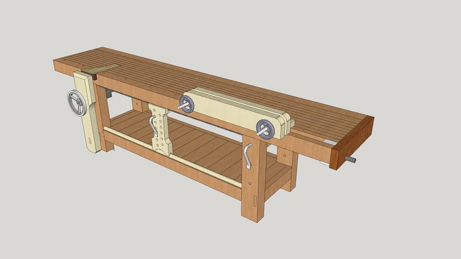 Long Bench with Hovarter Leg and Wagon Vises