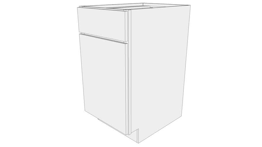 Glenwood Base Cabinet B18 - One Door, One Drawer