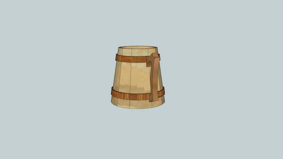 wooden pint
