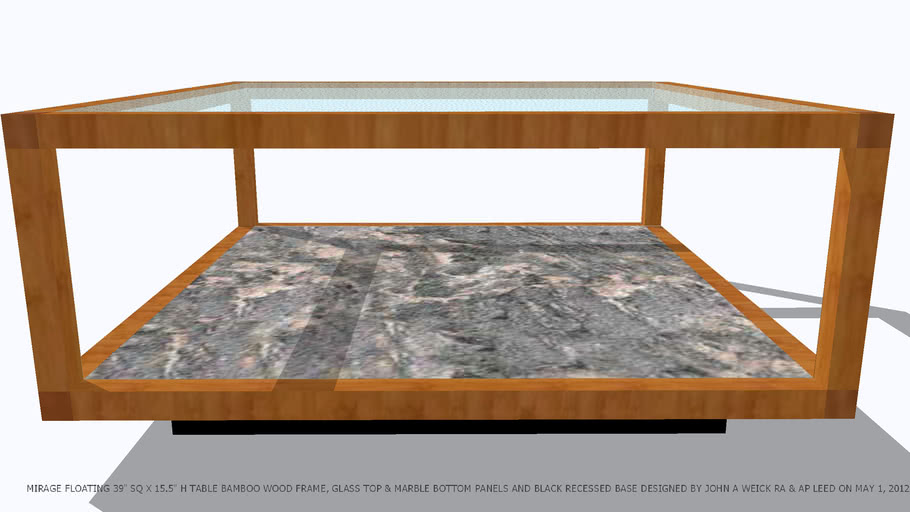 Gl Coffee Table With Wooden Base