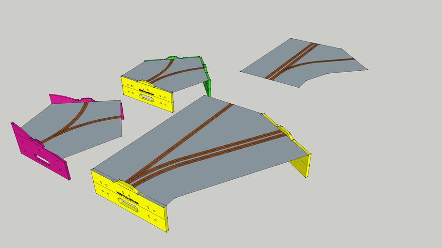 Verzweigungsmodule für FREMO-Endprofile