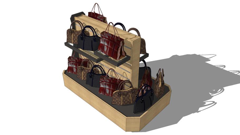 Display rack for bags