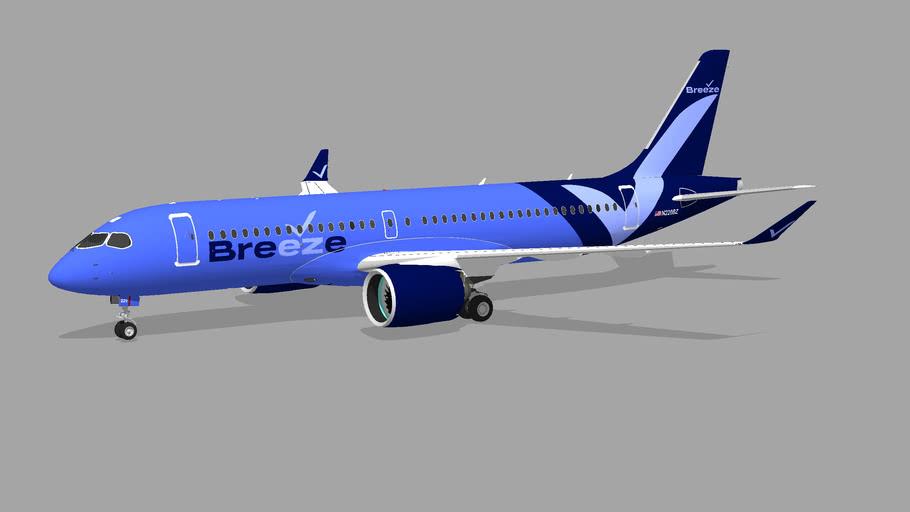Breeze Air (N220BZ) - Airbus A220-371 (2021)