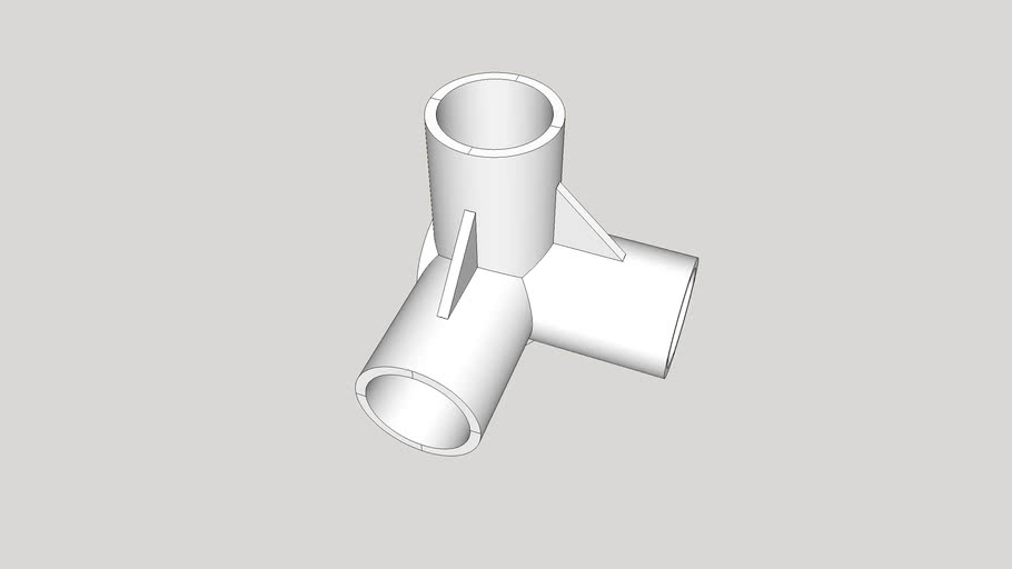 3-way elbow connector for 16 mm pipes