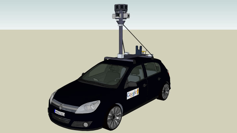 Google Street View car - Opel Astra 2004