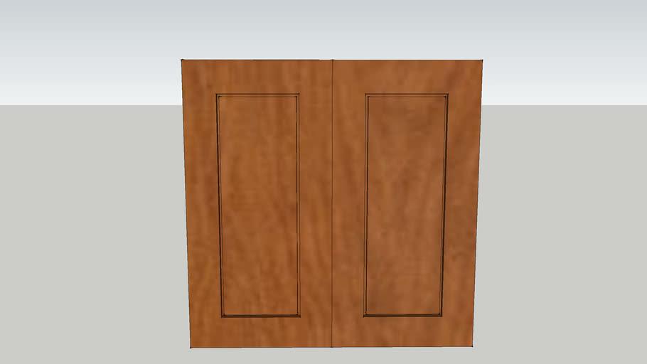 27 Wide 27 High 12 Deep  2 Door Wall Cabinet