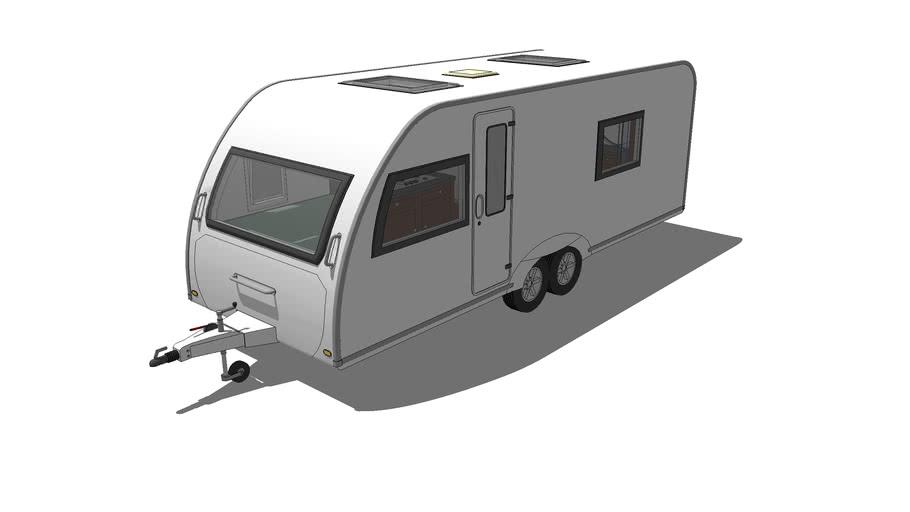 Caravan with Twin axle