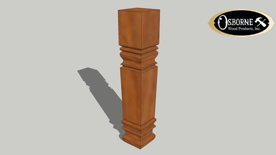 """Square Farm Coffee Table Leg (18"""" x 3 1/2"""")"""
