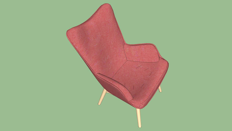 78915 Arm Chair Angels Wings Rythm Carmine Red