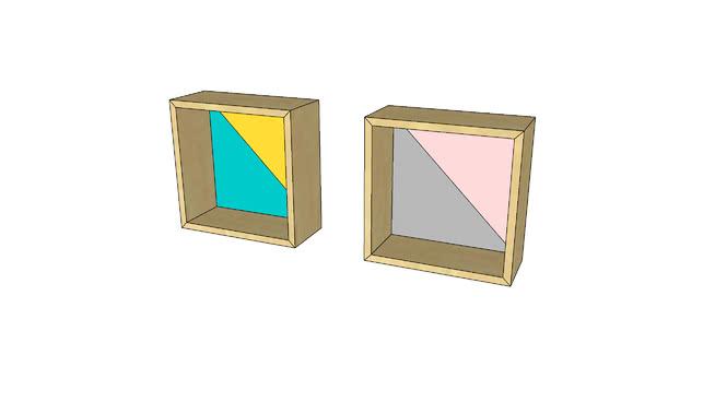nicho de parede quadrado da bododo