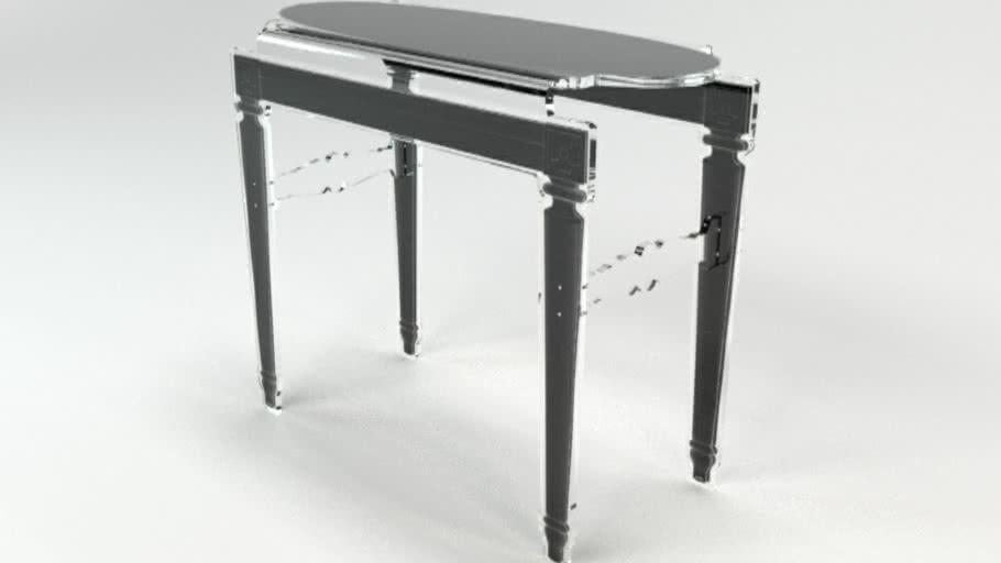 CONSOLE SIXTEEN NOIR CONTOUR NOIR Acrila Furniture