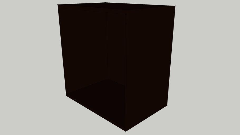 IKEA BESTA Shelf unit 60x40x64 black-brown