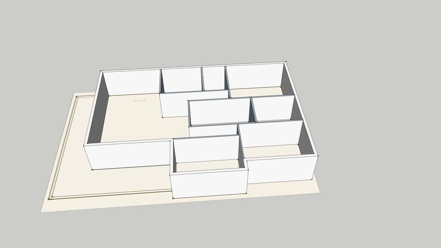 AMX1047's House (Modeling from floor plan image)