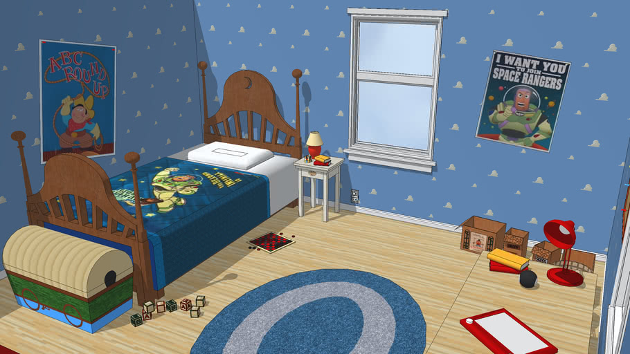 Toy Story Andy S Room 3d Warehouse