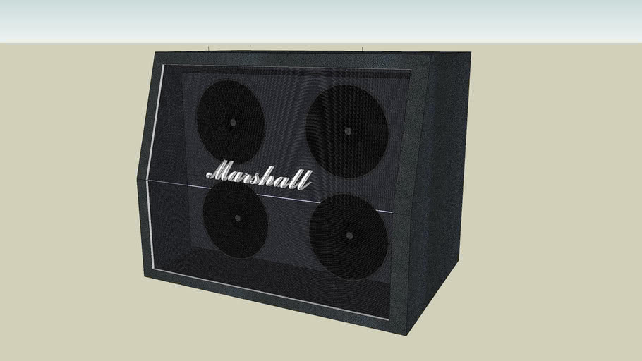 Marshall half stack cabinet
