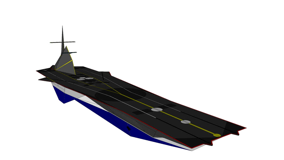 Futuristic Stealth Aircraft Carrier
