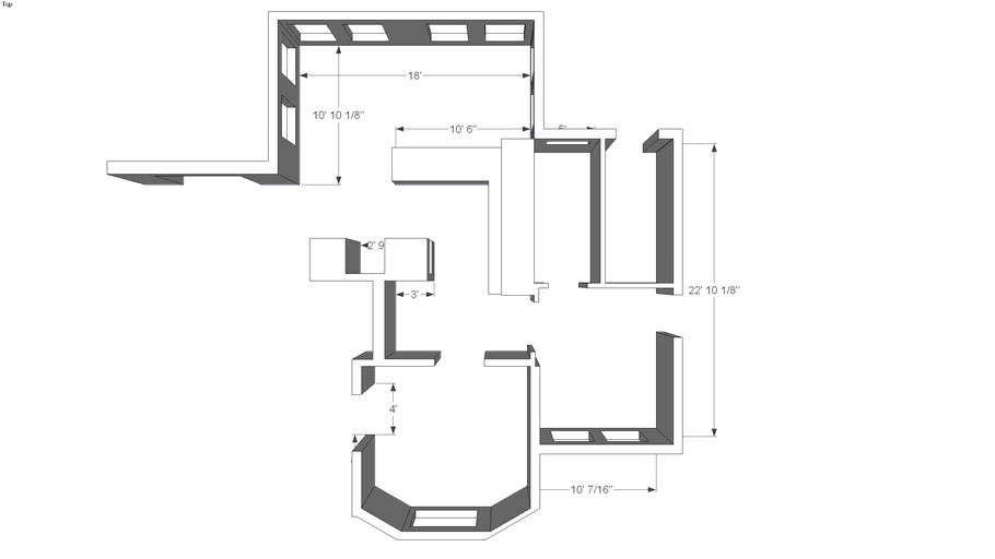 Sample Floor Plan with Recreation Room