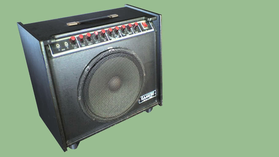 Old guitar amplifier