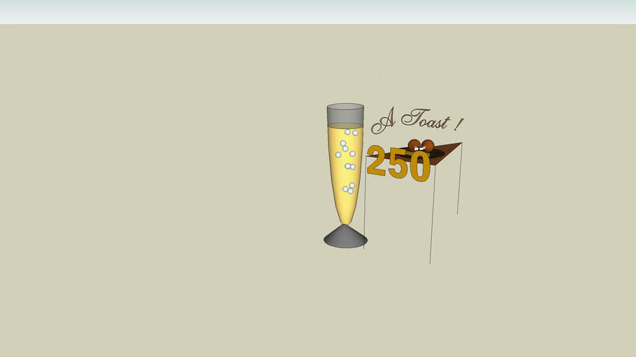 A toast! 250 models!