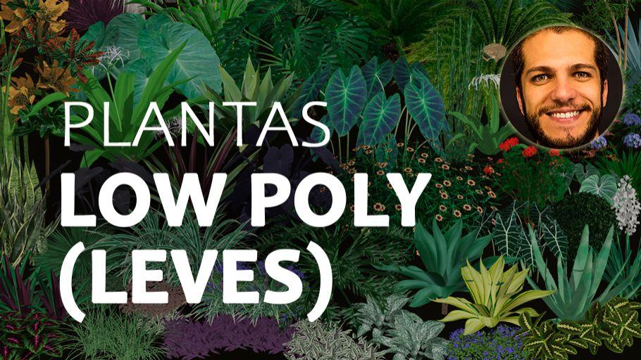 Plantas Low Poly - Prof. Ronaldo Luidi