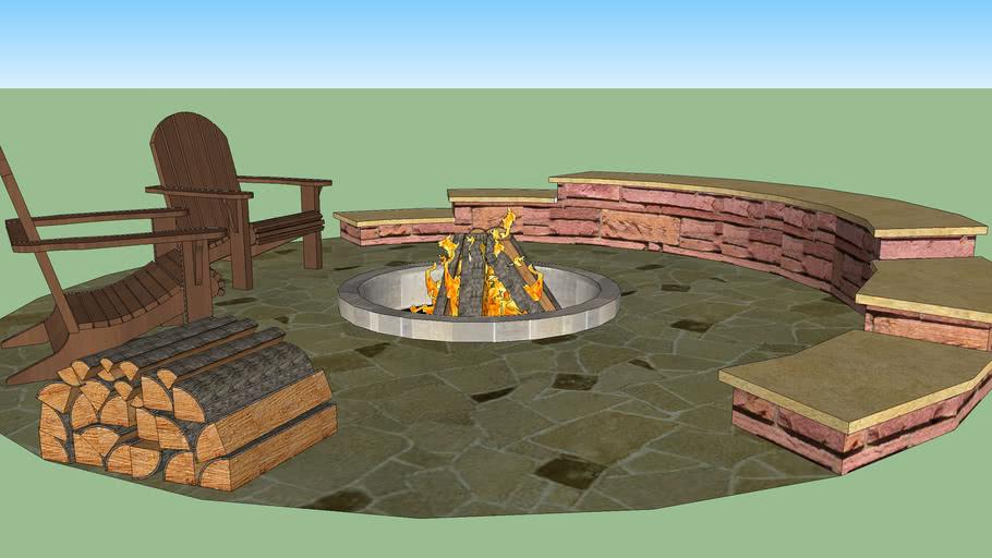Cinder Block Fire Pit 3