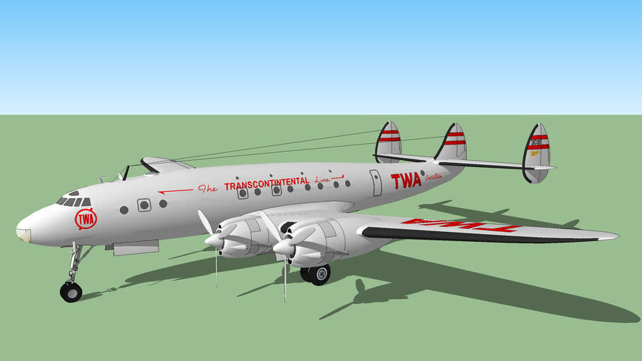 Transcontinental and Western Air (TWA) (1944) - Lockheed C-69-1-LO Constellation
