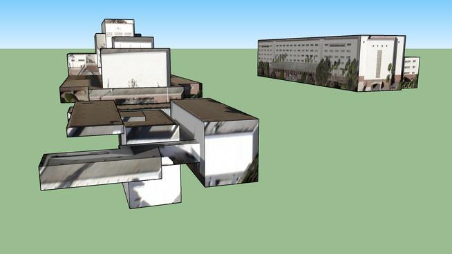 美国加利福尼亚州洛杉矶的建筑模型