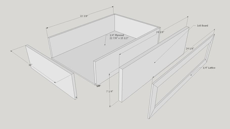 Kendal Extra Wide Dresser Large Drawer Construction