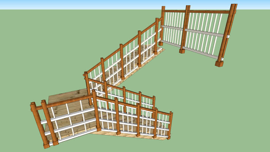 Staircase with railings