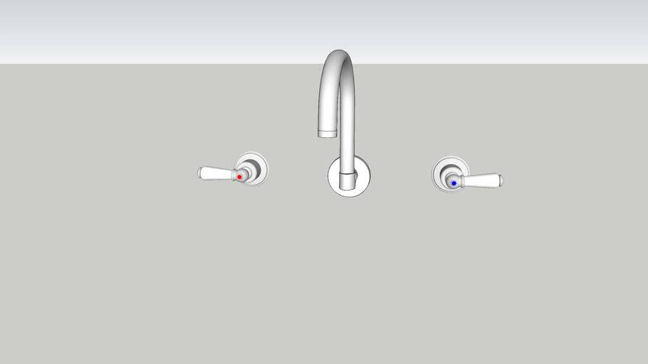 wall outlet lever set