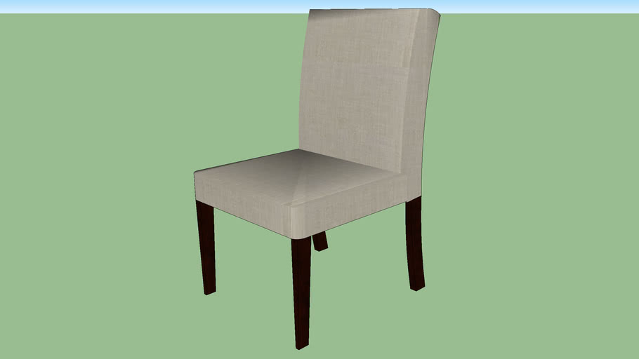 Crate & Barrel Lowe Pewter Upholstered Dining Chair