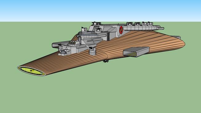 spaceship Vernian cruiser.