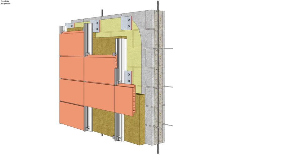 11.030.0211 Wall system   Terra cotta rainscreen, CMU backing