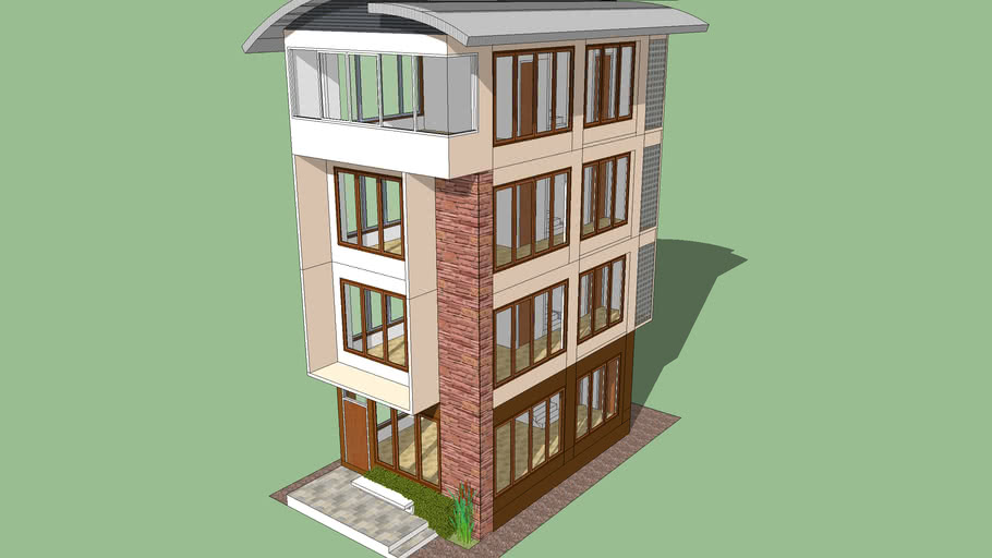 4Storeys Single House in Plot 6.80x11.50 m.