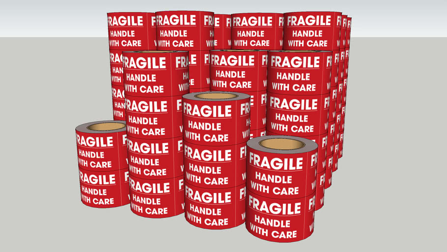 Uline Fragile Handle with Care Labels