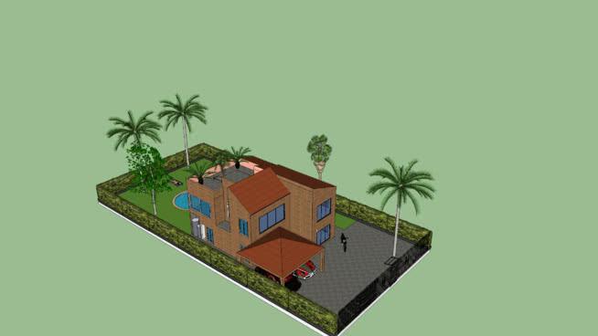 casa con techo verde