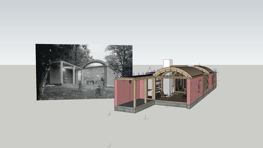 Maison Paille Eco House Vacances Sverre Fehn Architecte 3d Warehouse