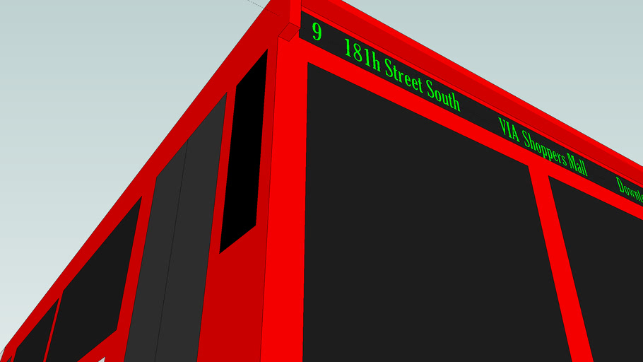 Yet Another Sketchup Transit Bus By: The Bus Monkey(MBS)