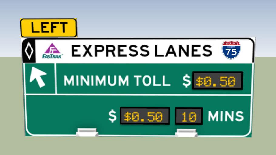 Express Lanes Sign