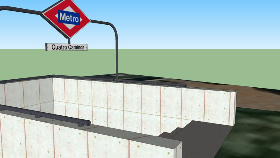 Entrada del metro Cuatro Caminos