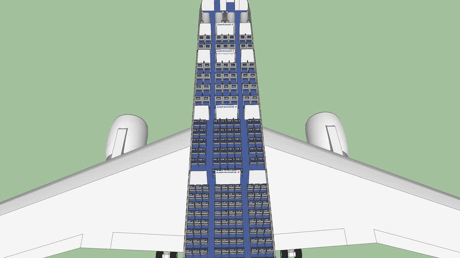 Air France Boeing 777-300ER Cabin Interior
