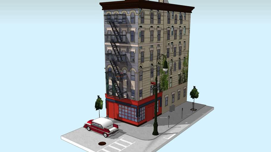 """F-r-i-e-n-d-s""  The Building As Seen From The Street!!"