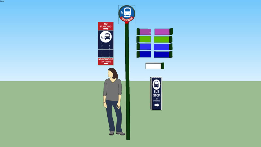 MTA Bus Stop (Old Style & New Style)